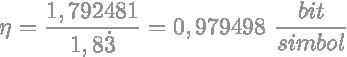 Efikasnost koda Huffmanovog primjera